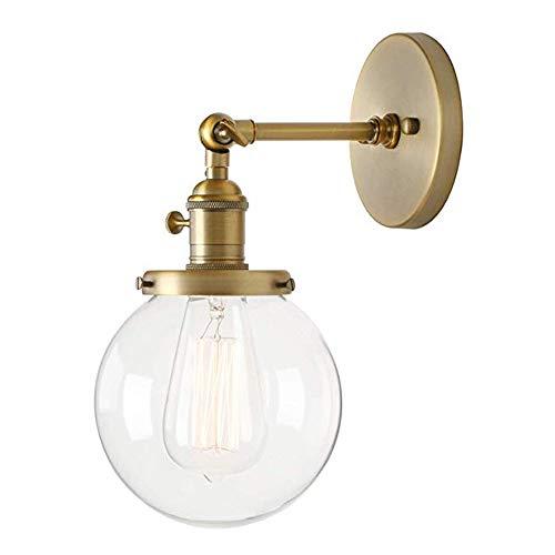 Yaione Industrielle Vintage Wandleuchte Leuchte mit Mini 5,9