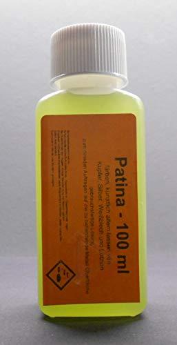 100 ml Tiffany Patina zum schwarz beizen (künstlich altern) von Kupfer, Messing, Silber, Weißblech, Lötzinn und deren Legierungen geeignet