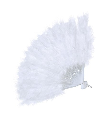 Feather Fan (Budget) White