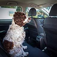 Ezisoul Auto-Hundesperre groß - Rücksitznetz Netz-Organizer - universell passend - mit Hundeleine