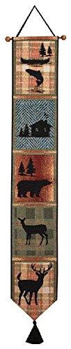 Manual Tapestry Bell Pull, Bear Lodge by Manual - Log Cabin Lodge Dekor
