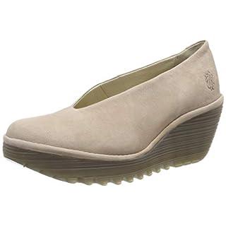 Fly London Women's YAZ Closed Toe Heels, Grey (Concrete 231), 4 (37 EU)