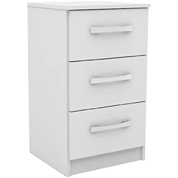 Lexi white high gloss bedside table 2 drawers modern design birlea lynx 3 drawer bedside table high gloss white watchthetrailerfo