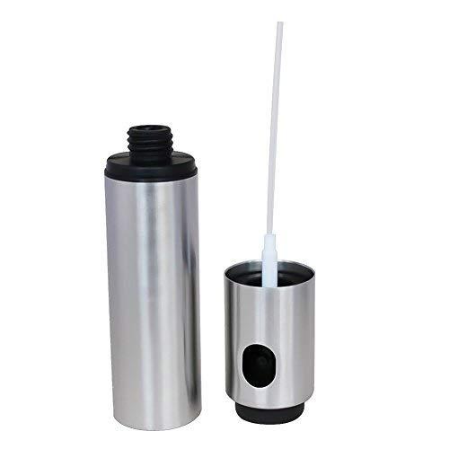 Espray dispensador de aceite de acero inoxidable para pasta de cocina, ensaladas, barbacoa, parrilla (2 unidades, 100 ml)