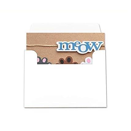 Meow – gatti – zampette – biglietto d'auguri (formato 10,5 x 15 cm) – vuoto all'interno, ideale per il tuo messaggio personale – realizzato interamente a mano.