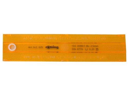 sanford-rotring-342025-schriftschablone-25mm-gerade-plastik-342025