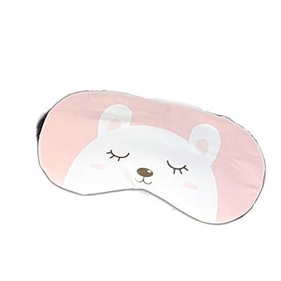 Lumanuby 1x Bär Augenmaske mit Kühlkissen Flanell Tier Schlafbrille 2 in 1 für Wärmen und Kühlen für Schlaflosigkeit Patienten/Traveller, Schlafbrille Serie Size 19x10cm von Lumanuby auf Outdoor Shop