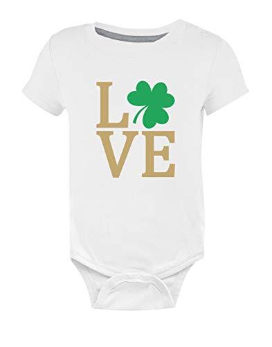 Green Turtle T-Shirts Love- Saint Patrick's Day tréfle Vert Body Bébé Manche Courte 9-12 Mois Blanc