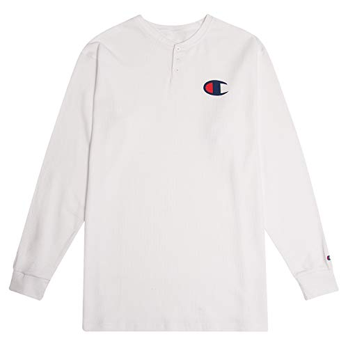 Champion Men's Big and Tall Thermal Long Sleeve Waffle Knit Henley Shirt for Men -