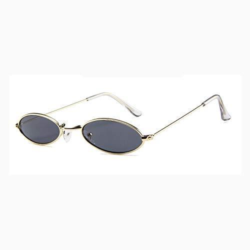 Red Cat Eye Sonnenbrille Womens Small Size Sonnenbrille Damen Metallrahmen Skinny Oval Sunglass Shades für Männer