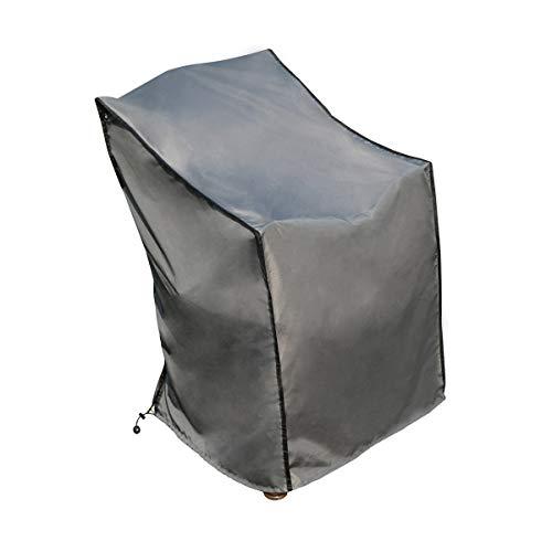 SORARA Housse de Protection Chaise | Gris | 75 x 78 x 65/110 cm (L x l x b x h/h) | Résistant à l'eau Polyester & Revêtement PU | pour Jardin, Terrasse, Meubles | Qualité