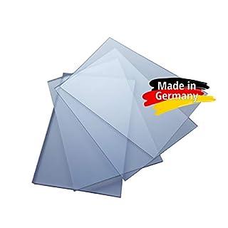 Polycarbonat Platte, PC Zuschnitt TRANSPARENT, Stärke 3-15mm, VIELE Verschiedene Formate, beidseitiger UV-Schutz TOP QUALTÄT (100 x 49cm, 3mm UV-Schutz)