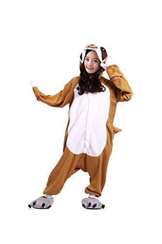 Pyjamas Faultier Onesies Cartoon Tier Cosplay Kostüm Nachtwäsche 140(Höhe Vorschlagen 138-146CM) ()