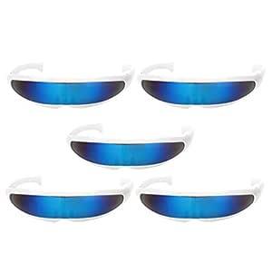 Prettyia 2//pack Novelty Futuristic  Mirrored Sunglasses Party Costume