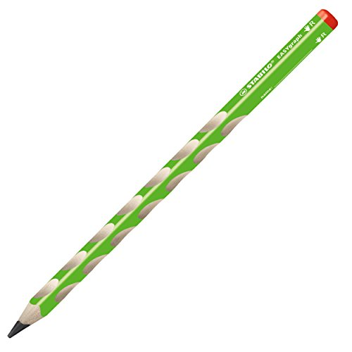 Preisvergleich Produktbild Dreikant-Bleistift - STABILO EASYgraph in grün - Härtegrad HB - 12er Pack - für Rechtshänder