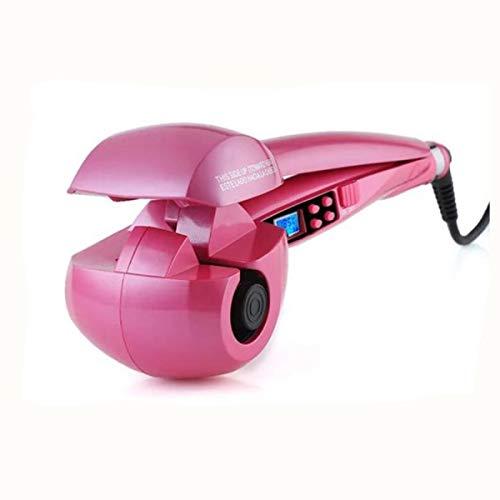 Double Beauty Automatischer Lockenstab Lockenwickler Curling Machine Dampffunktion Haarpflege mit LCD Keramikbeschichtung Locken einstellebar automatischer lockenwickler(Rosarot)