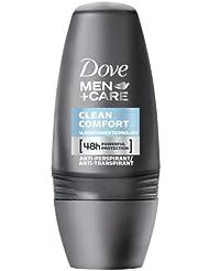 Dove Men+Care Anti-Transpirant Deo Roll-On Clean Comfort 50 ml, 3er Pack (3 x 50 ml)