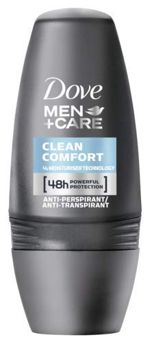 Dove Men+Care Deo Roll-On Clean Comfort Anti-Transpirant, 3er Pack (3x 50 ml)