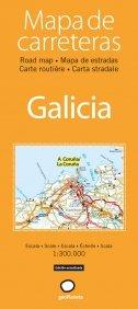 Mapa de carreteras de Galicia (Atlas de carreteras)