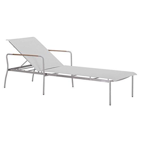 OUTLIV. Sonnenliege Palma Liege Edelstahl/Textilene Grau Gartenliege