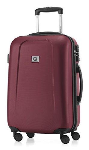 HAUPTSTADTKOFFER - Wedding - Handgepäck Koffer Kabinen Hartschalen-Koffer Trolley Rollkoffer Reisekoffer, 4 Rollen, TSA, 55 cm, 42 Liter, Burgund