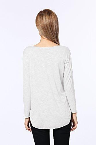 Jc.kube T-Shirt à Manches Longues Femme Blanc