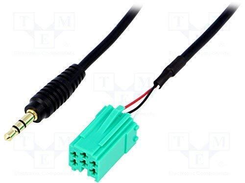 Audioproject A222 - Autoradio AUX Adapter 3,5mm Klinke Stecker Mini Iso kompatibel zu Renault Carminat iPod iPhone iPad MP3 Player Clio Megane Twingo Scenic