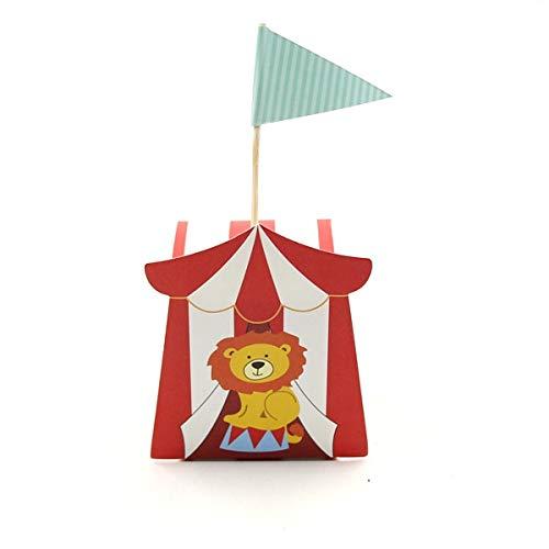 SMHILY 10 Teile/los Nette DIY Cartoon Zirkus Thema Party Pralinenschachtel Für Kindergeburtstagsfeier Baby Shower Dekoration Süßigkeiten Geschenk Box Liefert