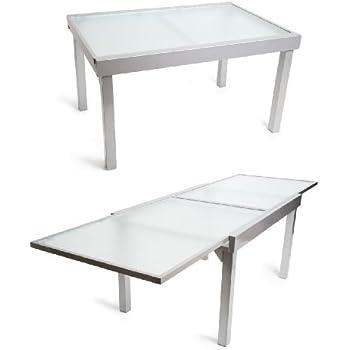 Aluminium gartentisch glasplatte alu glas tisch for Amazon tisch