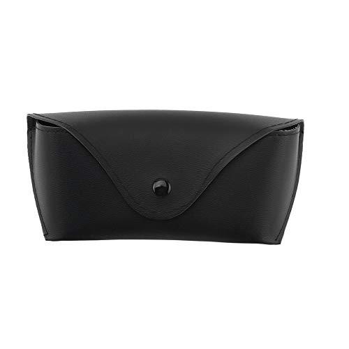 Durable PU Leather Glasses Case Sunglasses Eyeglasses Storage Holder Box Bag Black