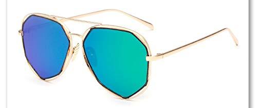 Sonnenbrille,Neue Big Frame Brille Männer Frauen Sonnenbrille Vintage Goggles Sommer Style Designer Sonnenbrille Gold Frame Grün Blau