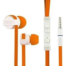 Yison Gigaset GS160 Smartphone Naranja Alto Rendimiento Ruido Aislar En Estéreo del Oído Auriculares (CX390) con Construido en el Micrófono y Remoto