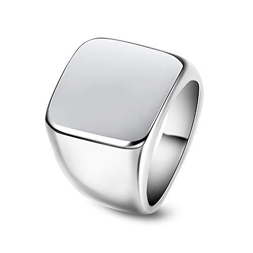 Yadoca anello in acciaio inossidabile per uomini donne stile punk biker nozze fidanzamento anello con sigillo