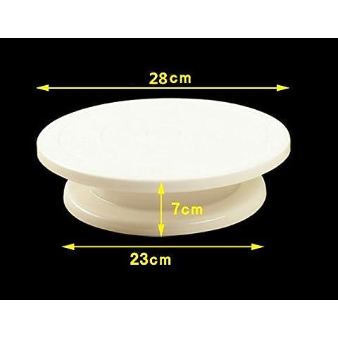 Ecloud Shop® Boda Rotación cumpleaños Turntable Decoración de Pasteles soporte