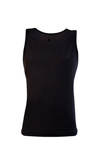 CURARE Herren Shirt Tank Top, black, L, 15