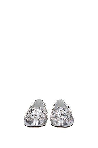 CP0060AE48980998 Dolce&Gabbana Pantoufle Femme Cuir Argent Argent
