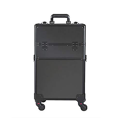 Songmics JHZ12BK Valise /à roulettes verrouillable avec roulettes pivotantes /à 360/° Noir 44 cm