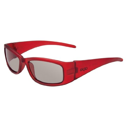 EX3D 1010 Polfilterbrille Kids rot