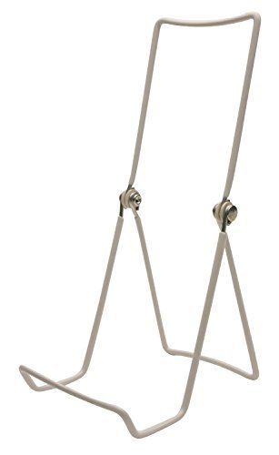 Gibson Holders Three Wire Display Stand for Books, Cookware, China, and More, Set of 2, White (6AC-W) by Gibson Holders