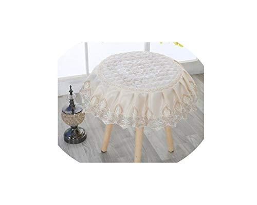 Moily Fayshow Runde Hocker Set nach Hause Make-up Stuhl Abdeckung Vier Jahreszeiten universal Klavier Kommode Stuhl gesetzt Spitze, 7, Durchmesser 35cm -