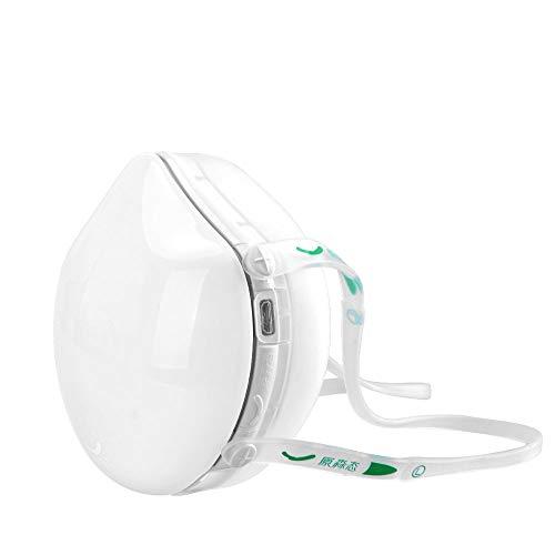 Weiß Reinigende Maske (Elektrische Staubmaske für Kinder, Q8S N95 mit Aktivkohlefilter, automatische frische Luft reinigende staubdichte Maske für Pollen-Allergie, Staub, Abgas, pm2.5, weiß)