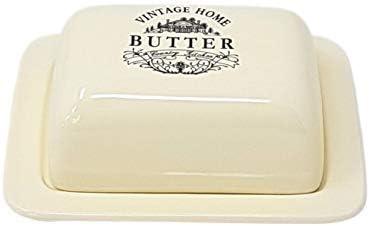 Luxus Küche Vintage Butterdose Behälter Aufbewahrung Creme Porzellan Steingut