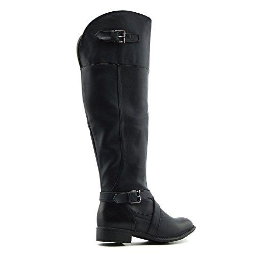 Kick Footwear Lungo donne Stivali Sopra Il Ginocchio Stivali Stivali Invernali Scarpe Nero opaco