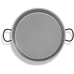 Metaltex 7398420000 Poêle à paella polie 65 cm, acier