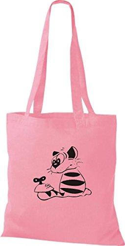 Lustige Farbe Tiere Cat Züchter Katze pink Motive diverse classic Rasse Katze ShirtInStyle Stoffbeutel fqwpXX