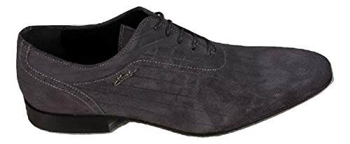 best sneakers ff47b f4d2b EVEET 2120 Grey Suede Italian Designer Men Shoes