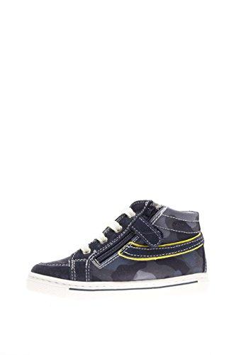 Nero Giardini Junior Kinder Sneaker High p623860m-207Sneaker High Wildleder Stoff Blau