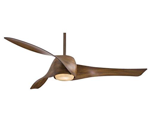 CASA BRUNO Design-Deckenventilator Artemis-3 Ø 132 cm, Akazie, mit Licht -