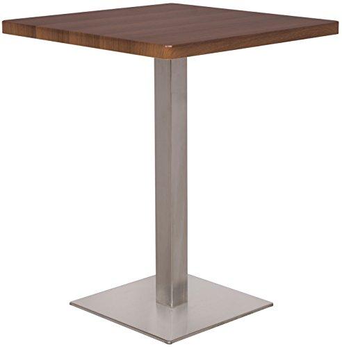 Bartisch Bistrotisch Tisch Nussbaum Holzoptik 60x60x75 - M-BT60/1431