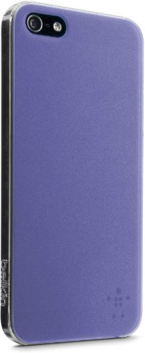 Belkin 2013 Translucent Polycarbonate Ultra Thin Case with Metallic Painted Back for iPhone5 - Pink Purple